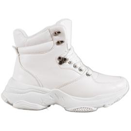 Ideal Shoes Eco læder sneakers hvid