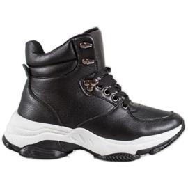 Ideal Shoes Eco læder sneakers sort