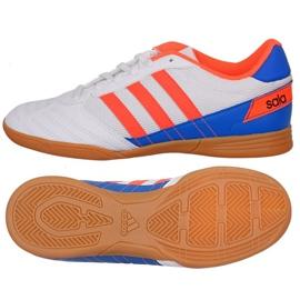 Puma Adidas Super Sala J I Jr FV2633 fodboldsko hvid hvid, blå, orange