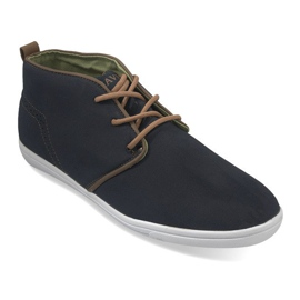 Høj afslappet sneakers A001-1 Blå navy