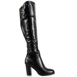 SHELOVET Høj støvler med Eco læder sort