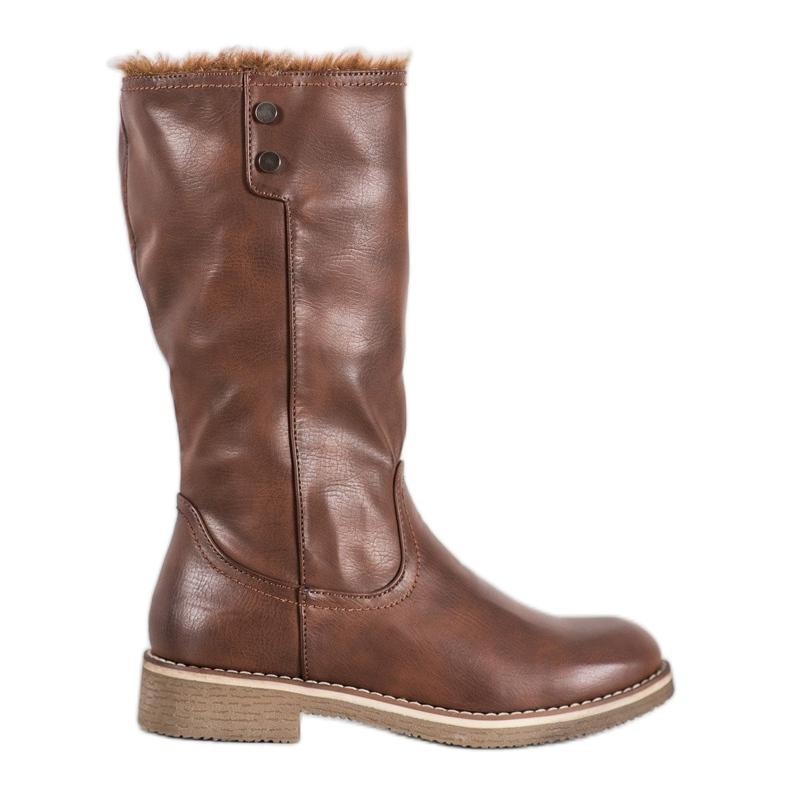 SDS Støvler med en roll-up overdel brun