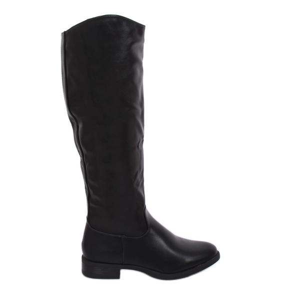 Sorte kvinders støvler A-6 Sort