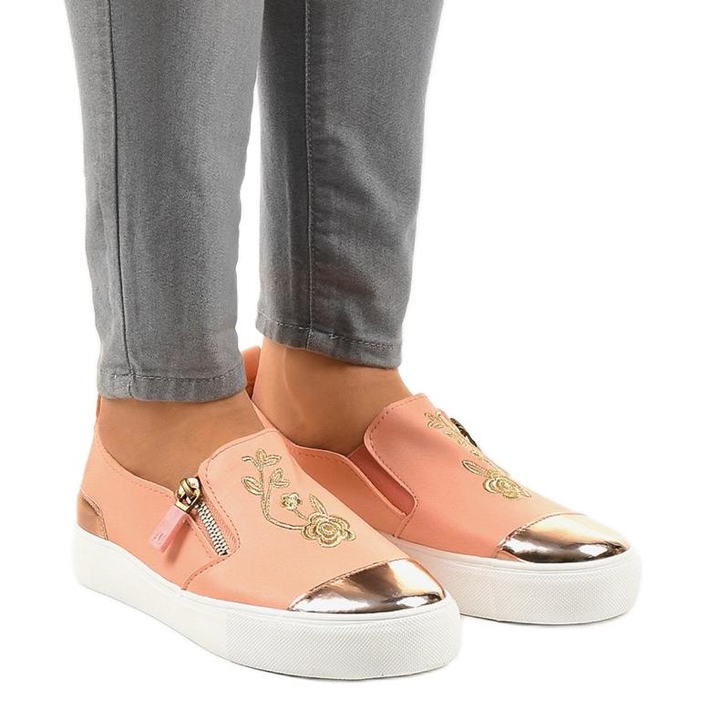 Pink klassiske slip-on sneakers A-89