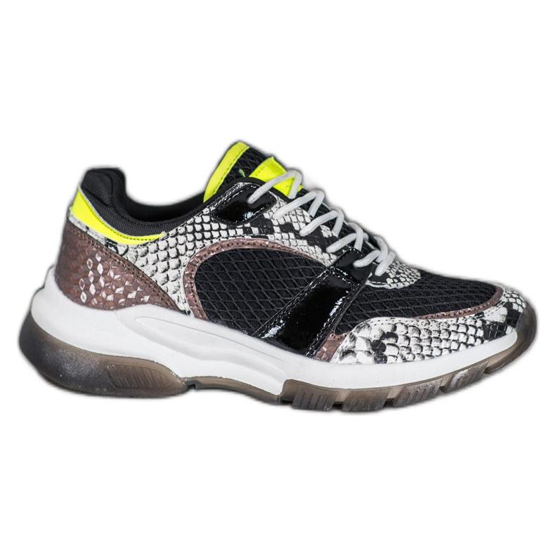 Kylie Komfortable sneakers fra Snake Print flerfarvede