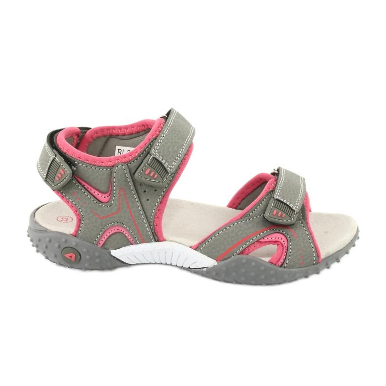 American Club RL26 / 20 grå / fersken sandaler