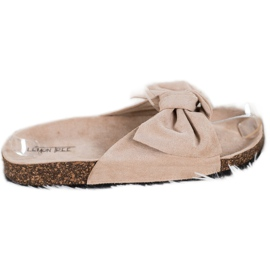 SHELOVET Suede Flip-flops Med Bow brun