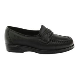 Loafers hæle til følsomme fødder sort Solo 015