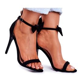 SEA Kvinders sandaler på høje hæle Bunny Ører sort honning kanin