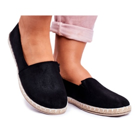 NEWS Sort glidende espadrilles