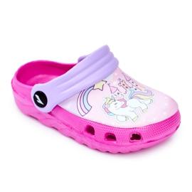 Børnes tøfler Skum Crocs lyserøde ponyer pink