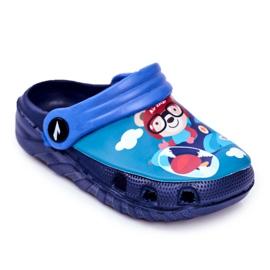 Børnes tøfler skum Crocs marineblå Bamse Pilot SuperFly