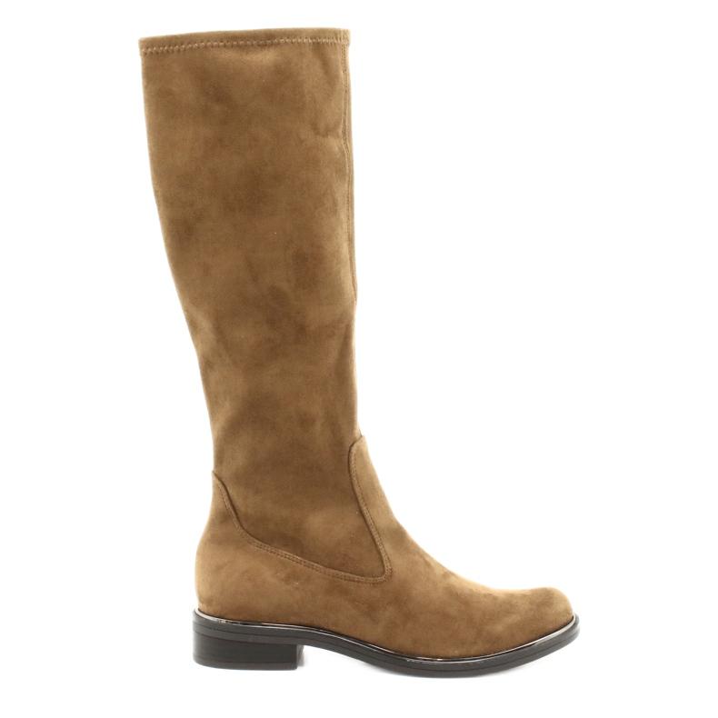 Dame Caprice 25512 cognac stretchstøvler brun
