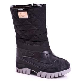Apawwa Pelsisolerede sne støvler til børn, sort musi