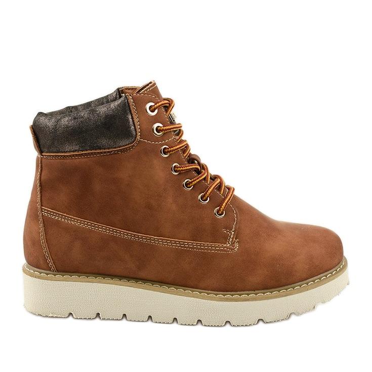 Støvler med kamelfarvet Haireino brun