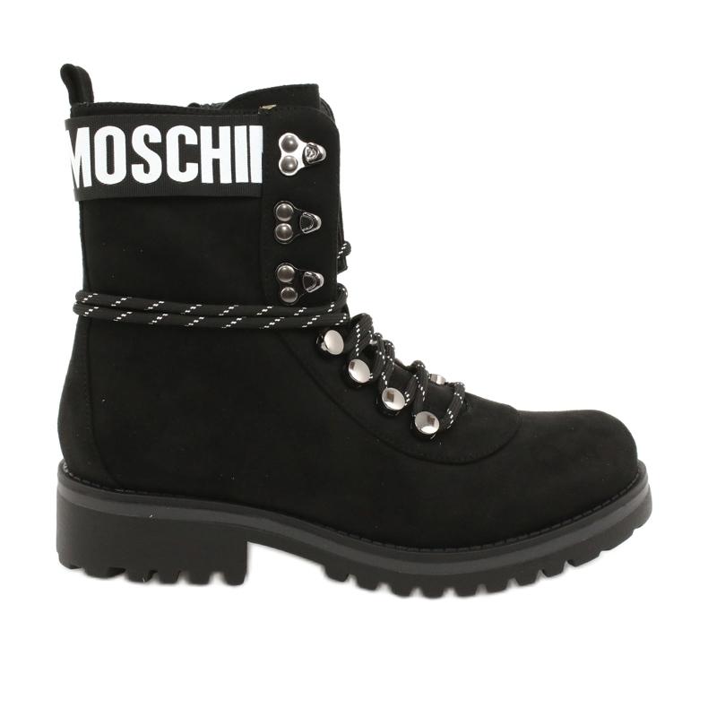 Evento Tømmerstøvler High Black 9BT35-1331 Black Popsi sort