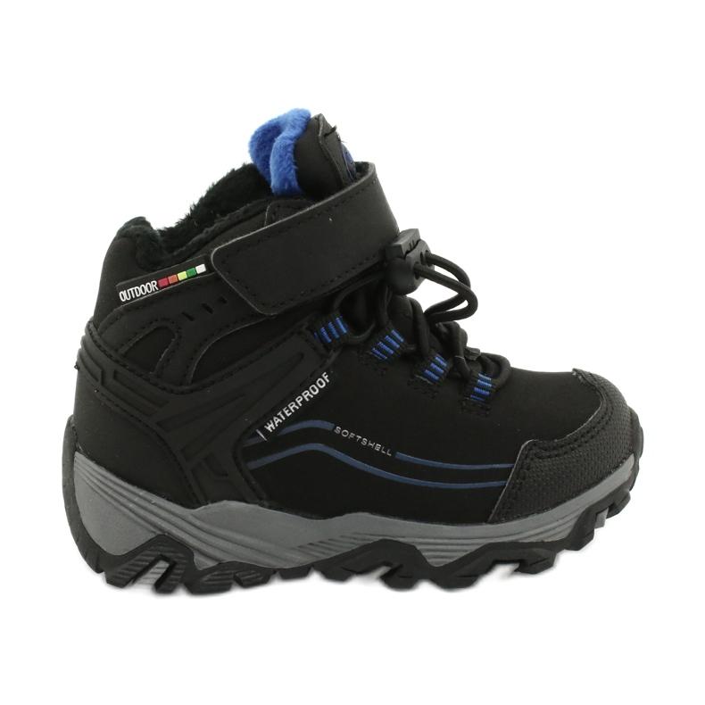 Softshell støvler med American Club membran sort blå