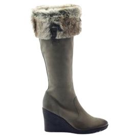 Caprice støvler støvler kvinder læder 25607 grå