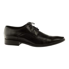 Læder sko Pilpol 1385 sort