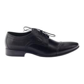 Sort Læder sko Mænds sko Pilpol 1262