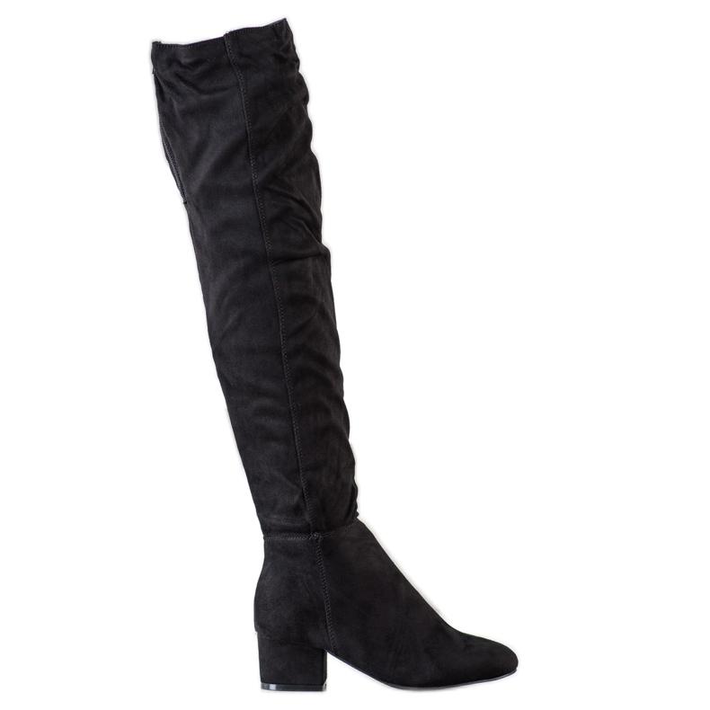 Fashion Sorte lårhøje støvler