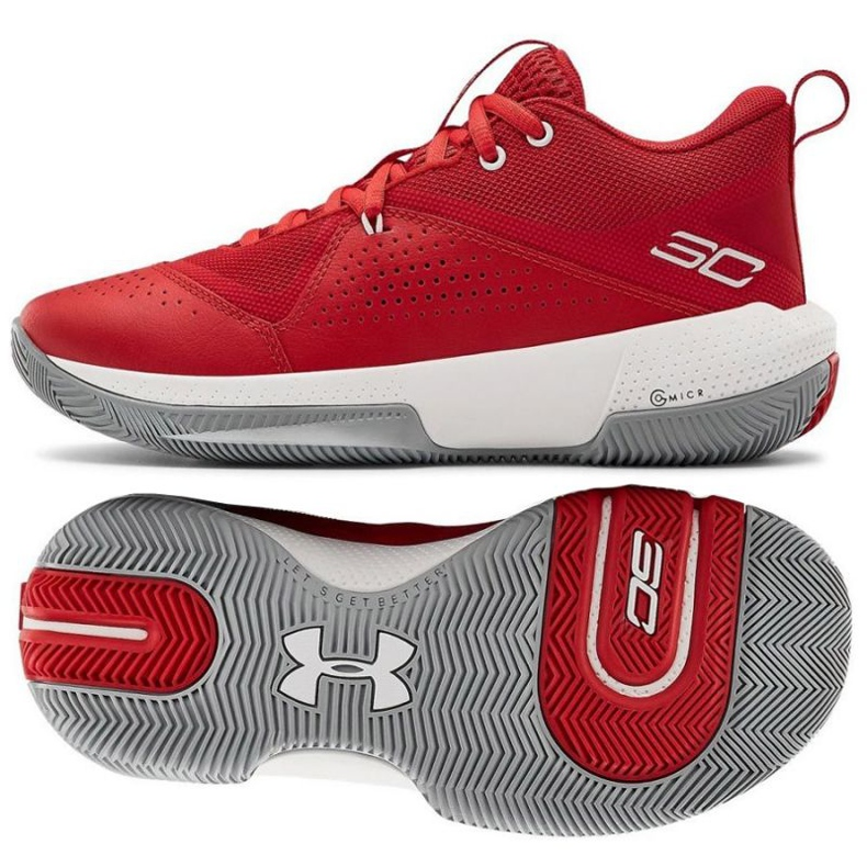 Under Armour Gs Sc 3Zero Iv Boys Jr 3023918-600 basketballsko flerfarvede rød