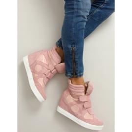 Suede sneakers Velcro lukning Pink 4
