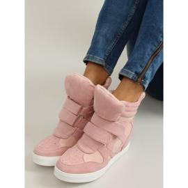 Suede sneakers Velcro lukning Pink 5