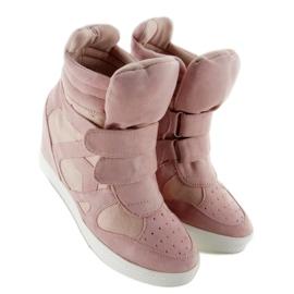 Suede sneakers Velcro lukning Pink 3