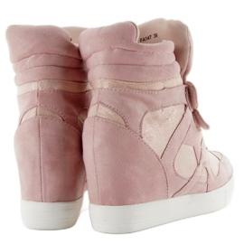 Suede sneakers Velcro lukning Pink 1