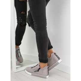 Grå platform sneakers NB168 grå 1