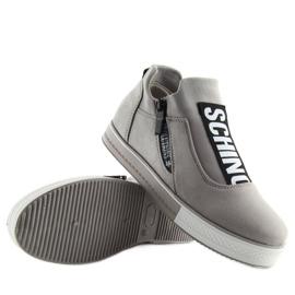 Grå platform sneakers NB168 grå 2