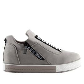 Grå platform sneakers NB168 grå 5