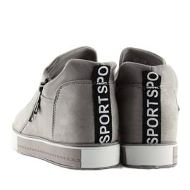 Grå platform sneakers NB168 grå 6
