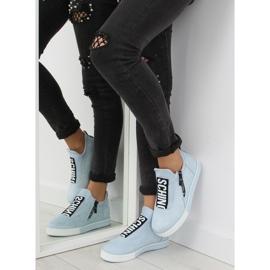 Blå NB168 platform sneakers. Blå 2