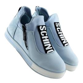 Blå NB168 platform sneakers. Blå 3