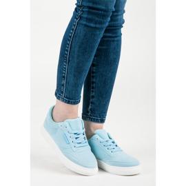 Sneakers på platformen blå 1