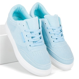 Sneakers på platformen blå 2