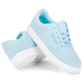 Sneakers på platformen blå 3