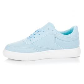 Sneakers på platformen blå 4