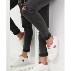 343-Y Røde kvinders sneakers hvid 1