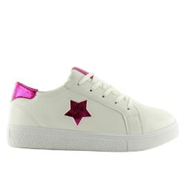 343-Y Røde kvinders sneakers hvid 4