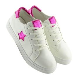 343-Y Røde kvinders sneakers hvid 2