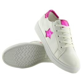 343-Y Røde kvinders sneakers hvid 3