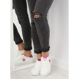 343-Y Røde kvinders sneakers hvid 6