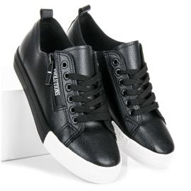 Sneakers på platformen sort 1