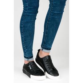 Sneakers på platformen sort 5