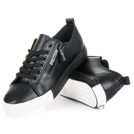 Sneakers på platformen sort 2