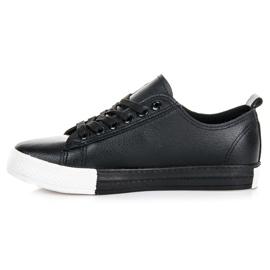 Sneakers på platformen sort 3