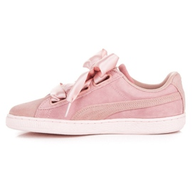 Puma Suede Heart Pebble WN`S pink 1